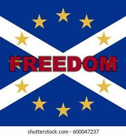 Scotland in EU, Indyref2, ScotRef - Scottish and European Union Freedom Flag