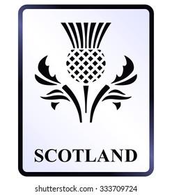 Scotland public information sign isolated on white background