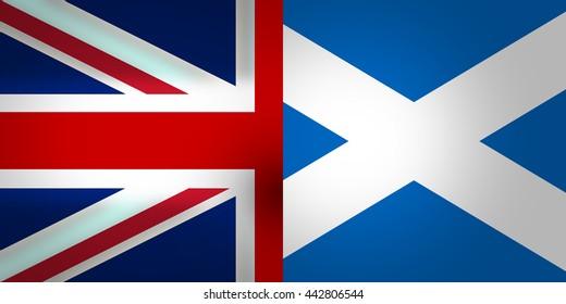 Scotland and United Kingdom Flags