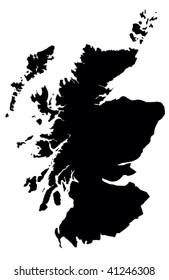 Scotland - white background