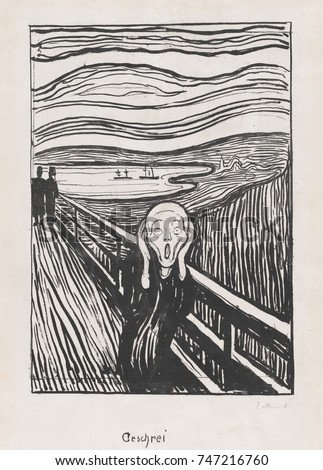 Scream By Edvard Munch 1895 Norwegian Stock Illustration 747216760