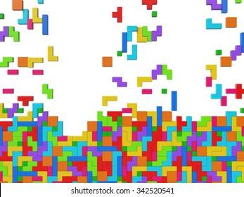 screen filling 3d blocks