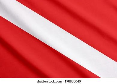 Scuba flag waving