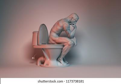 sculpture render 3d illustraiton