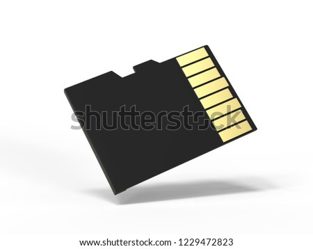 sd memory card mock template isolated stock illustration 1229472823