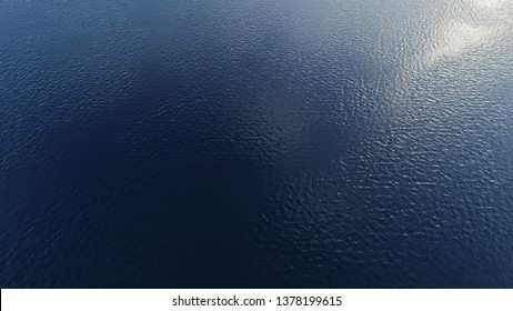 Sea aerial view .ocean drone view with sunset. Blue ocean water