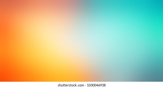 Sea beach abstract illustration. Summer holiday defocused template. Blue, green, yellow, orange gradient banner. Warm and cold blurred texture. Tropics empty background.