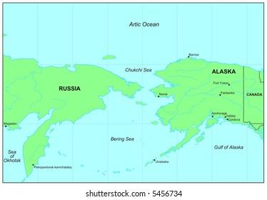 Sea maps series: Bering Sea