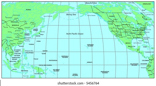 map north pacific ocean North Pacific Ocean Images Stock Photos Vectors Shutterstock map north pacific ocean
