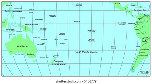 map of southern pacific ocean South Pacific Islands Map Images Stock Photos Vectors map of southern pacific ocean