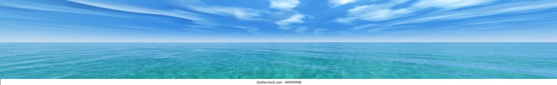 sea panorama 3D rendering