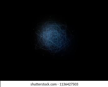 sea of Quarks and Gluons inside a Proton or Neutron. A quantum particle . A glueball