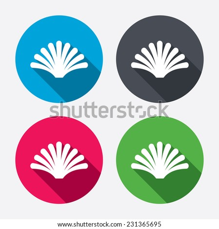 Sea Shell Sign Icon Conch Symbol Stock Illustration 231365695
