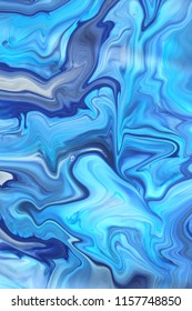 Sea stormy waves blue abstract background, marble texture photo background
