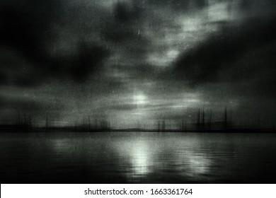 Sea Wallpaper, Gloomy Grunge Mysterious Landscape
