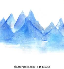 Sea watercolor, abstract blur