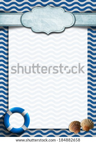 seafood menu template blue white abstract stock illustration