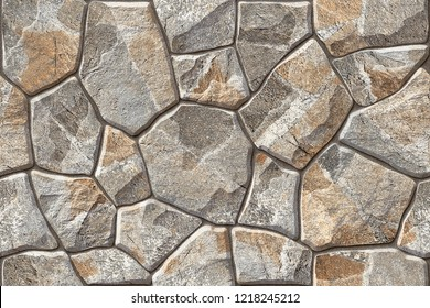 Seamless 3D Stone wall elevation for background