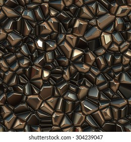 Seamless abstract background of metal. Crystal texture.