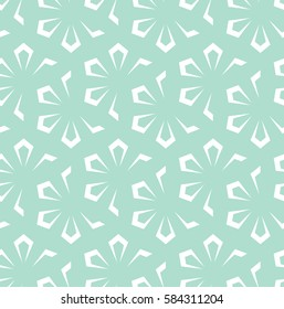 Seamless abstract floral pattern. Blue and white background. Geometric leaf ornament. Graphic modern pattern.