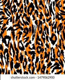 Seamless Abstract Hand Drawn Leopard Skin and Zebra Stripes Pattern with Degrade Background