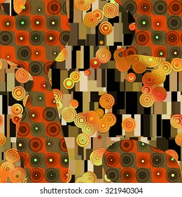 Seamless abstract pattern in Gustav Klimt style