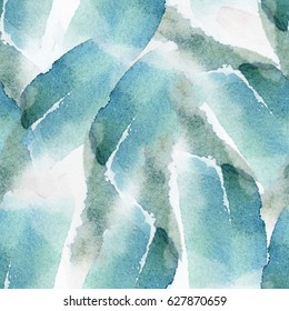 seamless abstract watercolor pattern in blue tints
