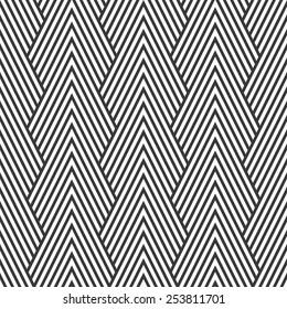 Seamless art deco optical chevron mountains pattern