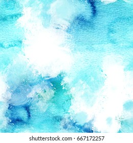 A seamless artistic teal background texture with brush strokes, a square background with a place for text