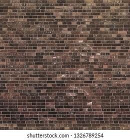 Seamless Ash Brown Brick Texture