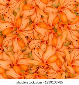 Seamless background.  Beautiful flowers. Azalea.