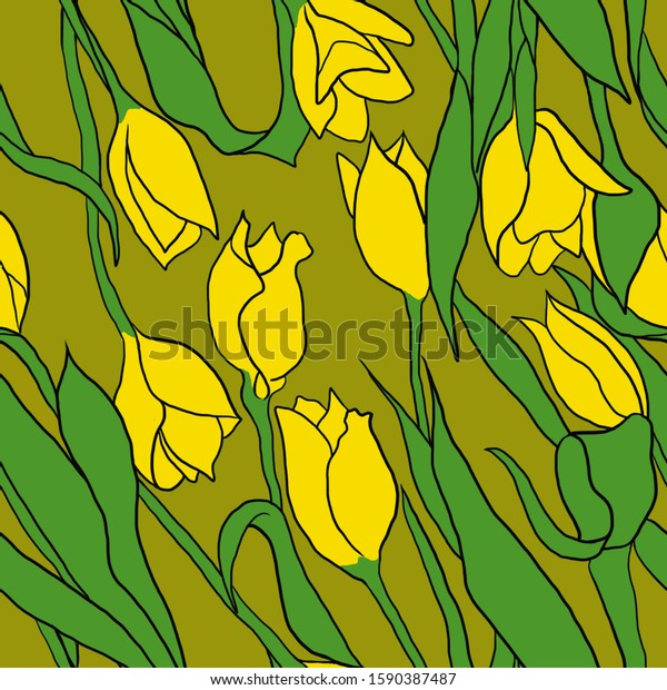 seamless-background-colorful-tulips-grea