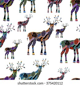 seamless background with deer