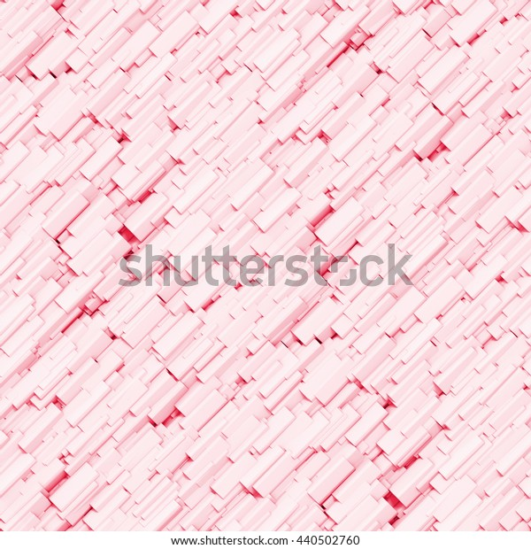 seamless background made of small pink objects (3d illustration)