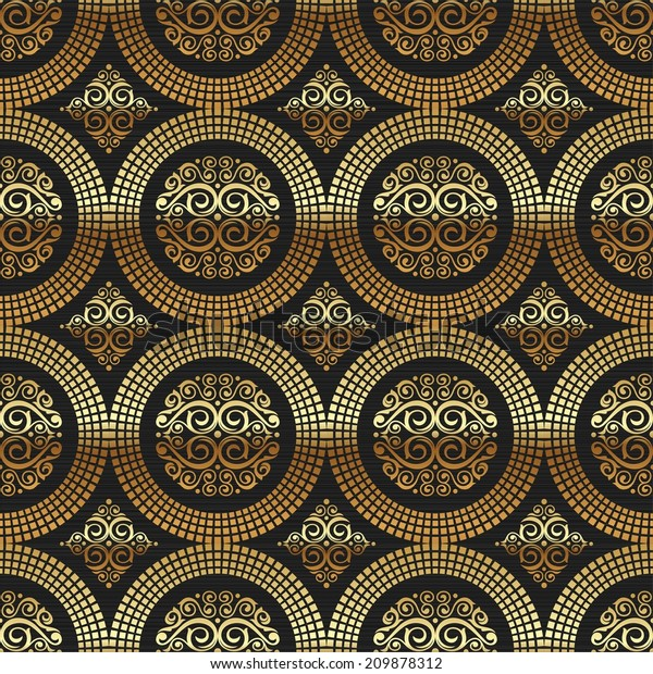 Ornamental decorative golden pattern luxury custom wallpaper