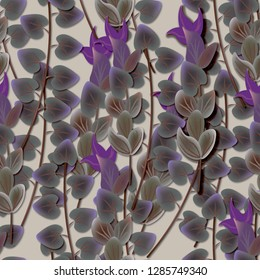 Seamless background, pattern with flowers