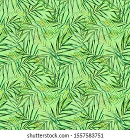 Seamless background pattern textile print tropics leaves japan hawaii tahiti flowers  watercolor hand drawn sketch bright juicy exotic
