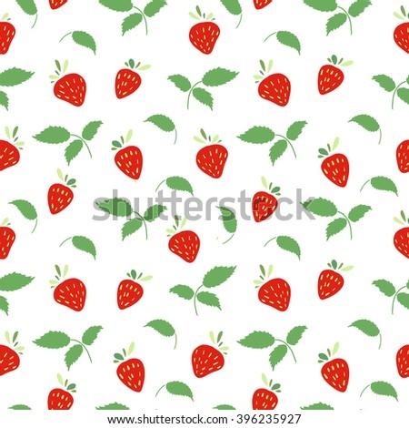 Seamless Background Strawberry Pattern Seamless Background Stock Extraordinary Strawberry Pattern