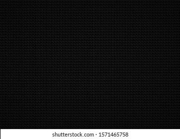 Seamless black fabric, textile texture background.
