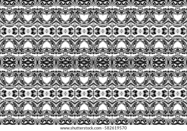 Seamless black and white symmetrical rectangle horizontal pattern for textile, ceramic tiles and backgrounds