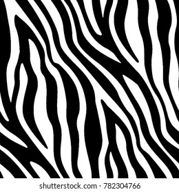 Seamless Black and White Zebra Skin Pattern for Textile Print for printed fabric design for Womenswear, underwear, activewear kidswear and menswear and Decorative Home Design, Wallpaper Print