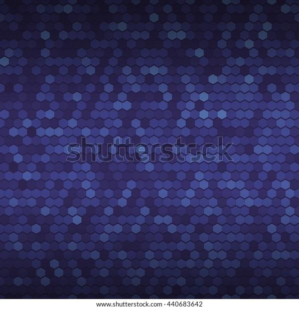 Seamless blue background. Abstract dark blue geometric pattern