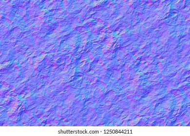 Seamless blue background, normal map, plant motifs, leaves on embossed surface