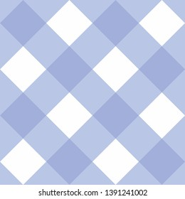 Seamless blue and white background - checkered pattern or grid texture for web design, desktop wallpaper or culinary blog website
