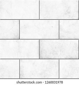 Seamless brick wall pattern background, 3D illustration