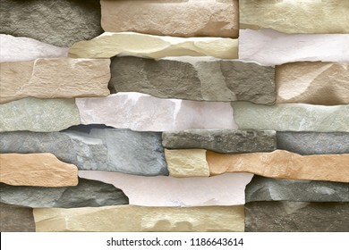Seamless Bricks Stone wall elevation for background