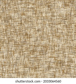 Seamless brown Linen Pattern Texture. Natural homespun colors. Marled, slubbed, mottled.Seamless slub effect texture on autumn background,