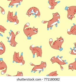 seamless cat pattern with socks