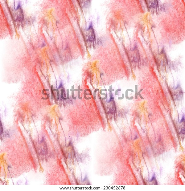 seamless cherry, violet, yellow pattern background wallpaper handmade watercolor