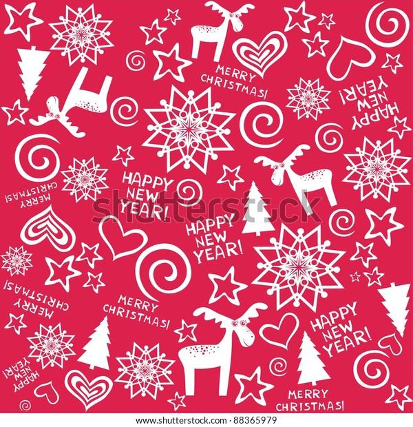 Merry Christmas Wallpaper.Seamless Christmas Background Merry Christmas Wallpaper